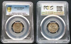 1968-5c-Coin-PCGS-MS68-PCGS-GEM-Graded-Australian-Five-Cent-Coin