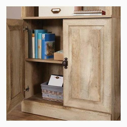 3 Shelves Wood Bookcase Adjustable Rustic Book Shelf Country Cabinet Storage