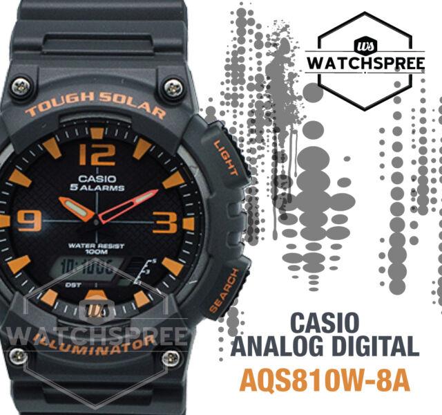 Casio Analog Digital Tough Solar Watch AQS810W-8A AQ-S810W-8A AU FAST & FREE
