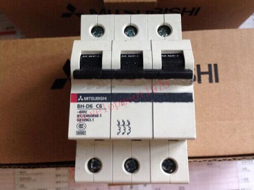 NEW BH-D6 3P C6 6A Mitsubishi Circuit Breaker