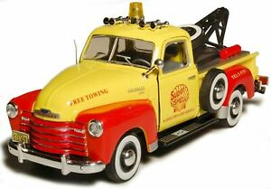 Chevrolet-C3100-Pickup-Tow-Truck-gelb-Cararama-Auto-Modell-1-43