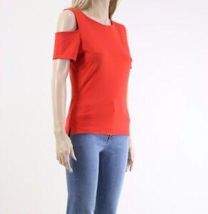 Karen-Millen-TY220-Women-039-s-Summer-Sleeveless-Cutout-Shoulder-Top-UK-SIZE-10
