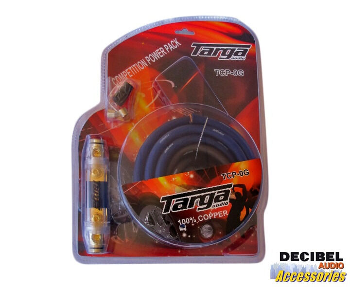 Targa Audio 0 Gauge 100% Copper Competition Power Pack Wiring Kit