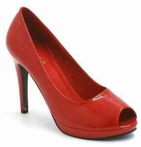 Damen Herren Peeptoe Crossdresser High Heel Plateau Pumps Schuh Größe 9-12
