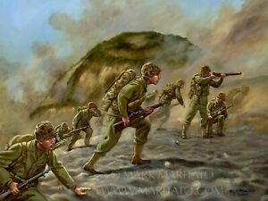 Mark-Maritato-Signed-Limited-Edition-Print-IWO-JIMA-WW2-World-War-2-Marine-Corps