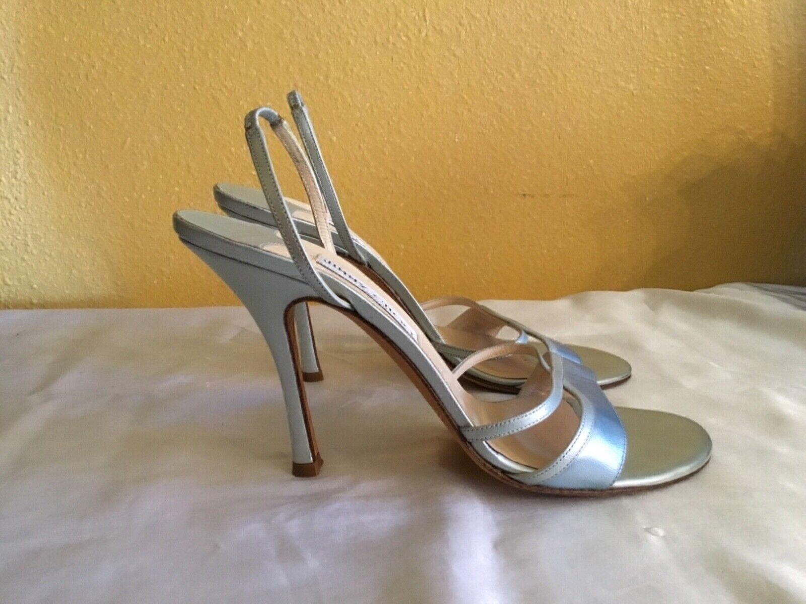 Jimmy Choo luce in pelle blu Strappy  Stiletto Heels Dimensione 39 1  2  qualità garantita