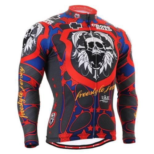 FIXGEAR CS-1101 Men/'s Long Sleeve Cycling Jersey Bicycle Apparel Roadbike MTB