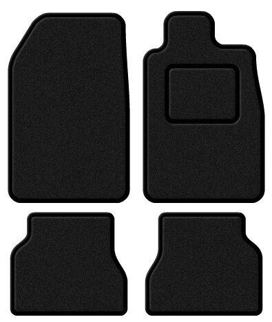 Renault Laguna 01-07 Terciopelo Black//black Trim coche Mat Set
