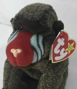 Ty Beanie Babies CHEEKS Baboon Monkey NEW WITH ALL TAGS 1999 Retired ... 88ac3e9f9cde
