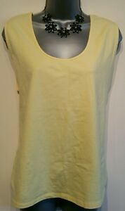 Size-XL-Top-Yellow-Vest-CASUAL-amp-CO-Stretch-Holiday-Excellent-Condition-Women-039-s
