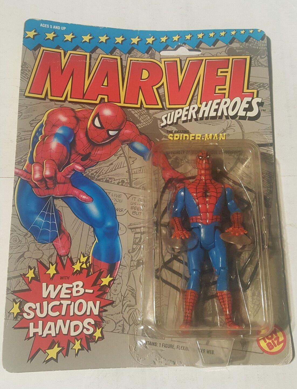 1990 Toy Biz Marvel Superheroes Spiderman Web Suction Hands Action Figure