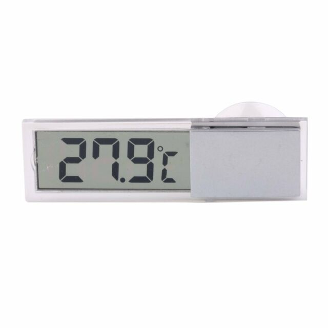 Car Truck LCD Digital Temperature Sensor In/ Outdoor Thermometer Suction Cu Q4T1