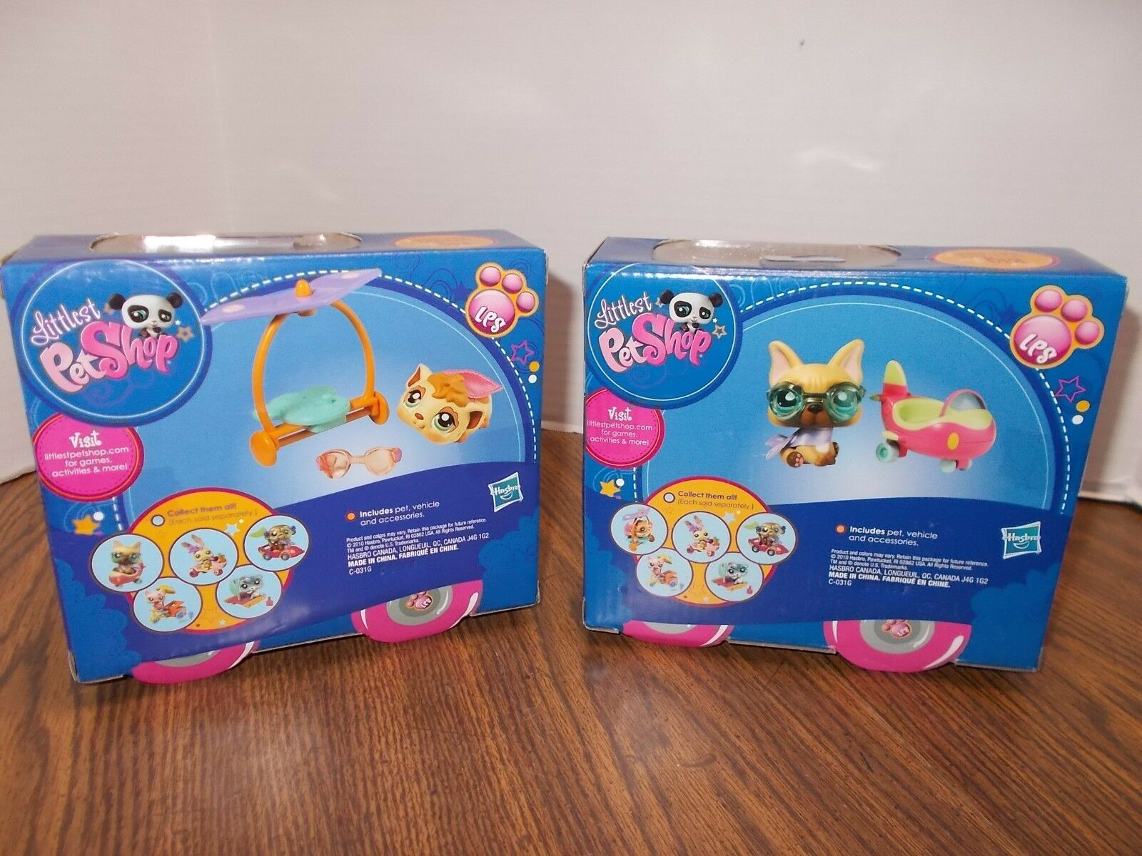2 LITTLEST PET SHOP PETS ON ON ON THE GO Play Sets  & NEW SEALED 74f0dc