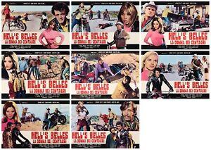 HELL'S BELLES LA DONNA DEI CENTAURI SET FOTOBUSTE 8 PZ. BIKER GIRL LOBBY CARD