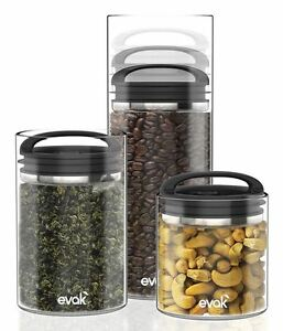 Prepara Evak Glass Airtight Food Pasta Coffee Cereal Storage