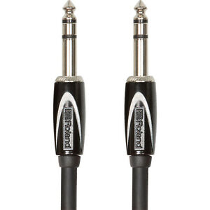 Roland-Black-Series-Balanced-1-4-034-TRS-Interconnect-Speaker-Monitor-Cable-15-ft