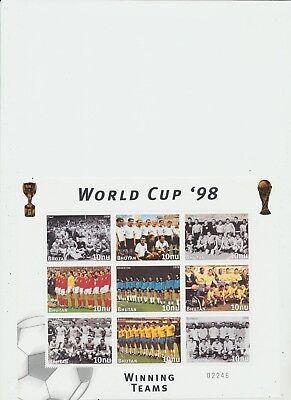Postfrisch Buy One Get One Free Bhutan 1998 World Cup '98 Block