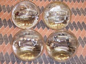 1958s 70s 12 Volt Headlight Seal Beams Hi Beam 4 Used