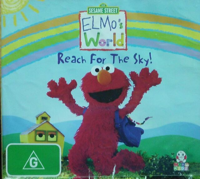 ELMO'S WORLD  REACH FOR THE SKY!   Region 4 DVD  SESAME STREET  ABC (2264)