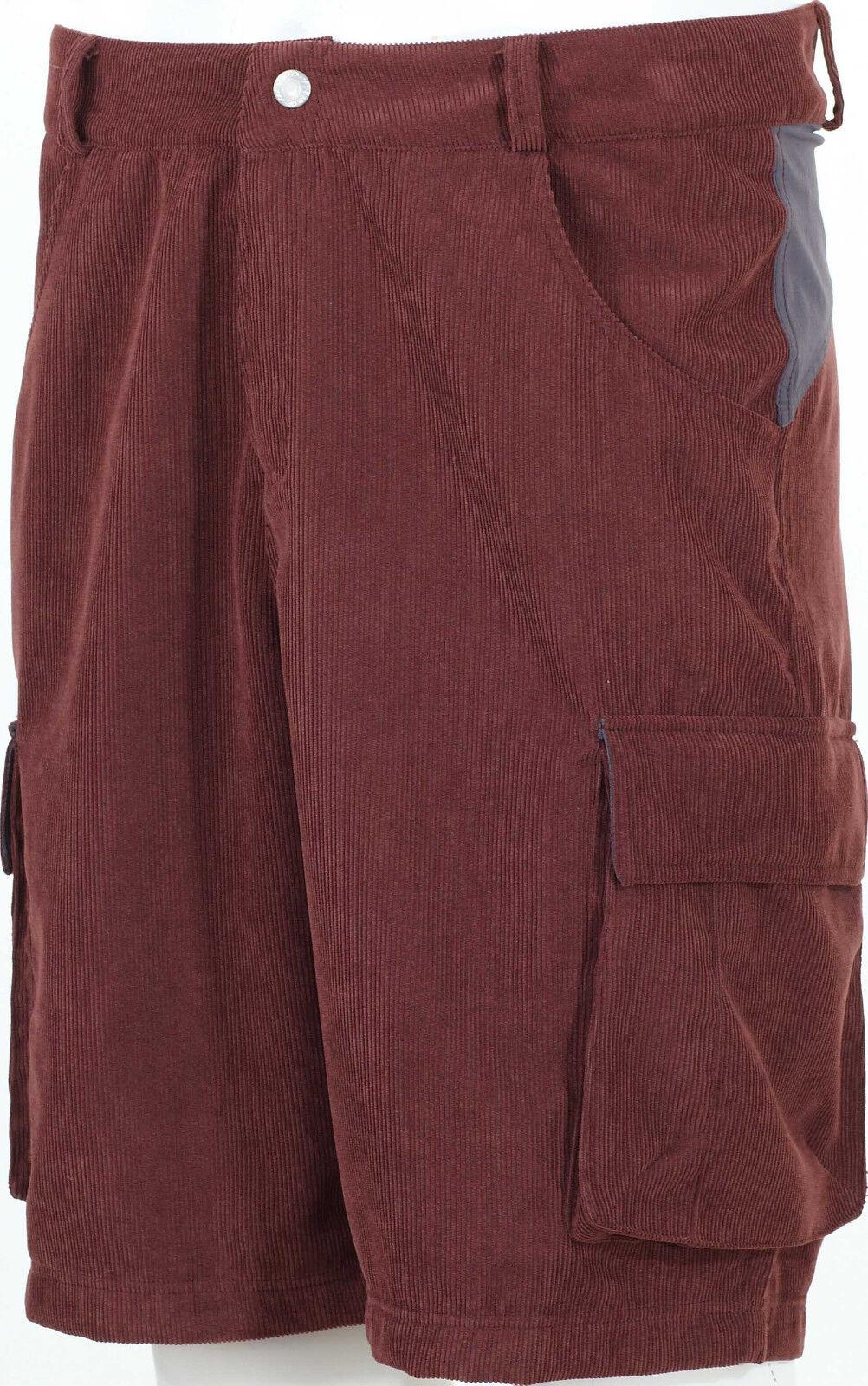 ZIENER Men's BIKESHORT Bike Pants Shorts Cord x Function Cafer 663 Wine Red NEW