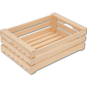 Hofmeister-Obstkiste-offen-aus-Fichtenholz-17-25-30cm-Holzkiste-Obstkorb