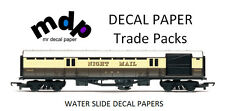 Clear inkjet water slide decal paper wholesale trade packs - 50 A4