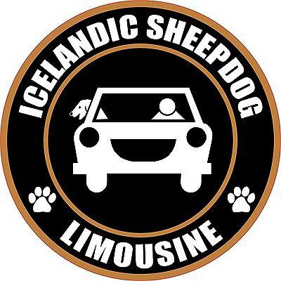 "LIMOUSINE ICELANDIC SHEEPDOG 5"" DOG STICKER"