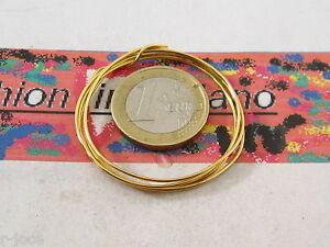 1 metro di filo in argento 925 placcato oro giallo di 0,8 mm made in italy