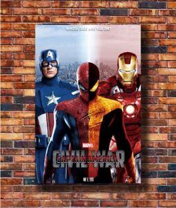 New captain America civil war by chronoxiong Poster 14x21 24x36 Art