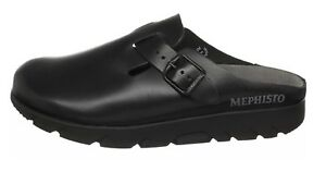 3d13e9168ae Image is loading NEW-MEPHISTO-ZAVERIO-CLOG-BLACK-OR-CHESTNUT-LEATHER-