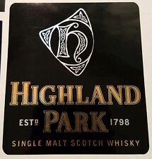 Highland Park scotch whisky sticker.