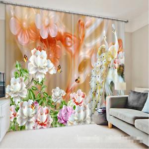 3d mármol pavo real 8656 bloqueo foto cortina cortina de impresión sustancia cortinas de ventana