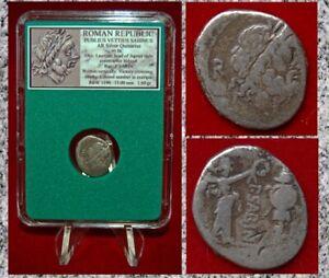 Ancient-ROMAN-REPUBLIC-Publius-Vettius-Sabinus-Silver-Quinarius