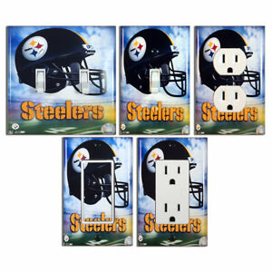 Details about NFL , Pittsburgh Steelers , Light Switch Covers Home Decor  Outlet