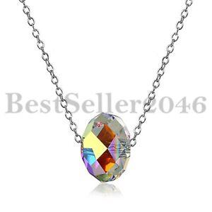 925-Silber-Damen-Anhanger-Aurore-Boreale-Made-mit-SWAROVSKI-Elements-Kristallen