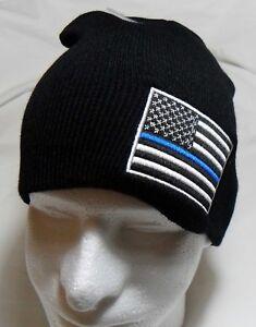 8a527f4e9d789 Thin Blue Line Beanie Tobogan Winter HAT Beanie CAP (respect those ...