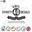 Oval-Italic-Number-Sticker-Vinyl-Decal-Black-White-2x150x110mm-Race-2112-1119B miniatuur 6