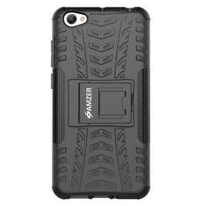 online store d2744 28961 Details about AMZER Hybrid Warrior Case - Black/ Black For Vivo Y55 Y55s  Y55L