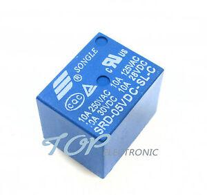 10PCS-Mini-Power-Relay-5V-DC-SRD-5VDC-SL-C-SRD-5VDC-SL-C-PCB-M106