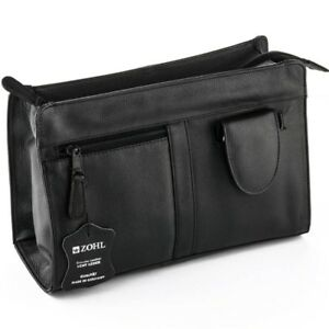 f341ccf3fd32 Image is loading ZOHL-Leather-Toiletry-Bag-With-4Pc-Manicure-Set