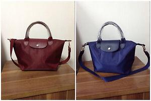 Image is loading Longchamp-Le-Pliage-Neo-Small-Handbag-100-Auth- 2cbdf21078