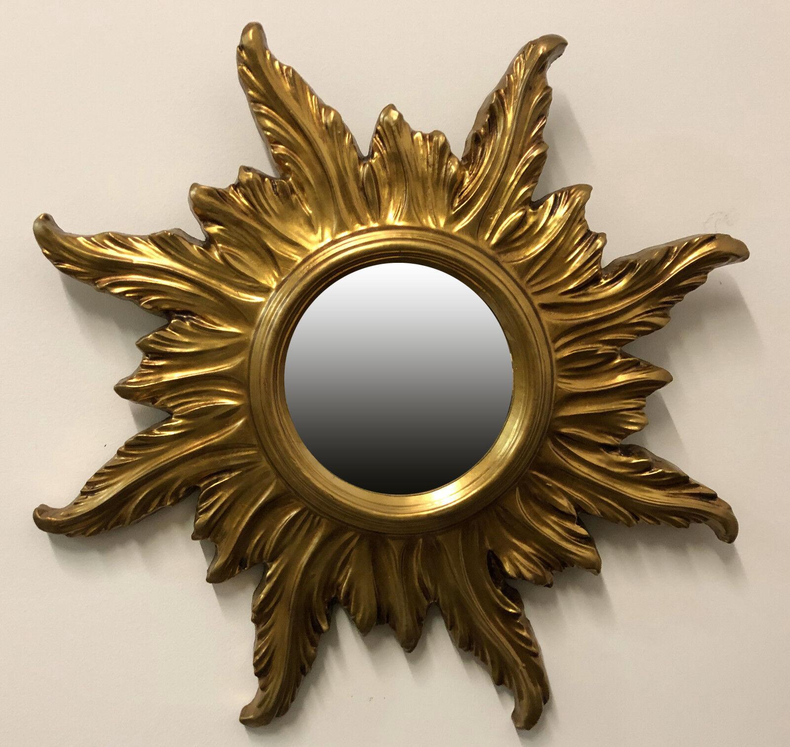 Wandspiegel spiegel barock antik sonne runder spiegel in gold 56x56 cm repro ebay - Runder spiegel gold ...