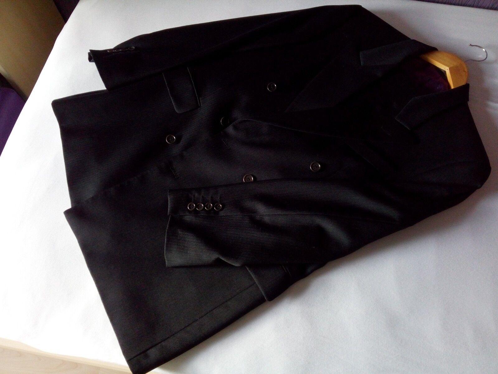 Scott & Taylor Anzug Gr. 48, Zweireiher 6x2, grau fischgrät, typisch englisch