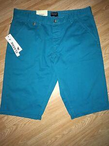 Kangol-New-Men-039-s-Chino-Shorts-Aquamarine-Large-34-36-034-RRP-24-99-FREE-POSTAGE