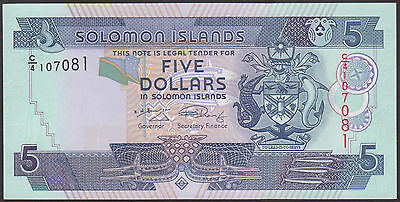 P  26  Uncirculated Banknotes SOLOMON  ISLANDS  5  DOLLARS  2009 Prefix C//4