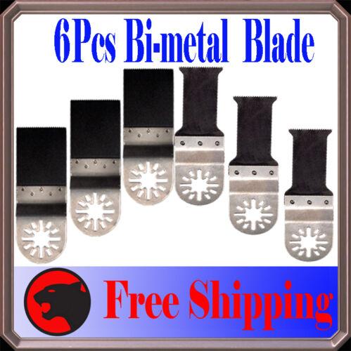 6 Bi-metal Oscillating Multi Tool Saw Blade For Ryobi Jobmax Ridgid Performax X