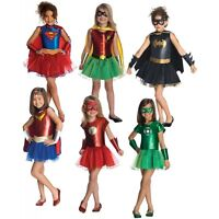 Girl Supehero Costumes Kids Halloween Fancy Dress (Multi Colors)