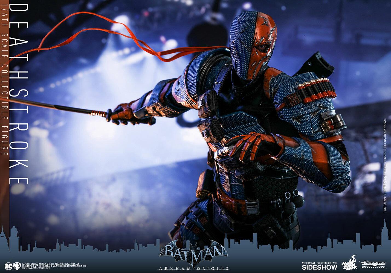 HOT TOYS Deathstroke Batman Arkham Origins Figura Menta escala 1 6 Nuevo en Caja