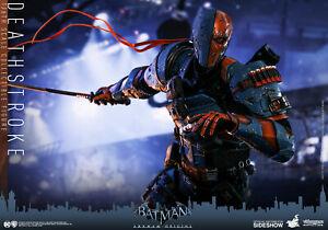Arkham Origins 1//6 Deathstroke Figure New Ready Hot Toys VGM30 Batman