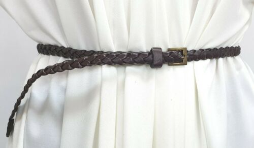 B1140 Skinny Plaited Thin Belts 1 cm Wide